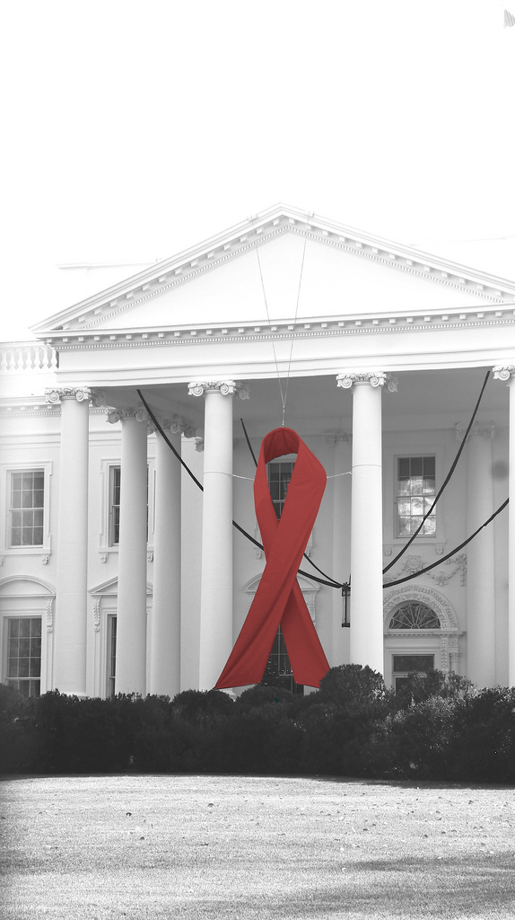 Red Ribbon on the White House 2 17785