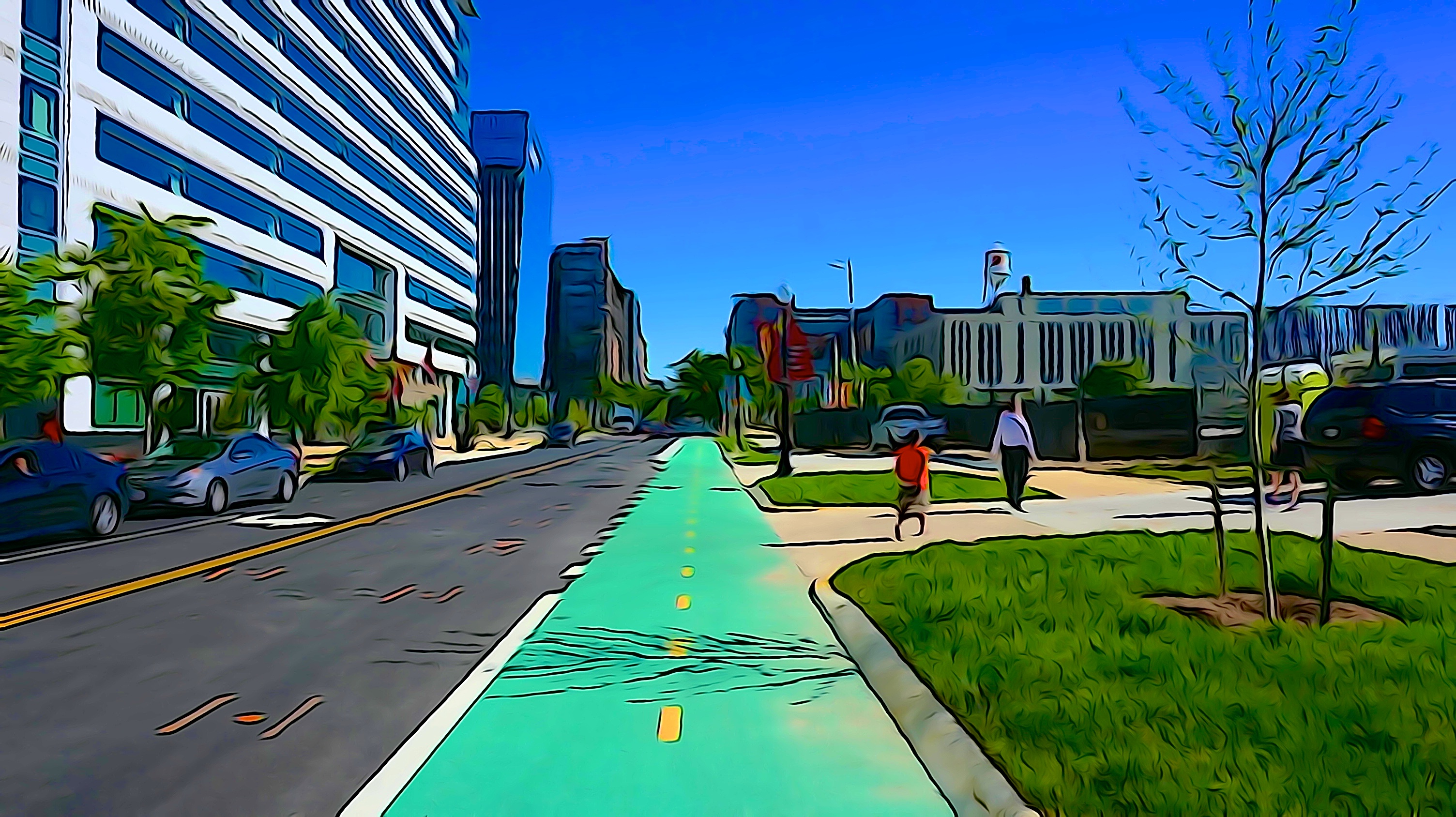First Street Bicycle Track DC 42366
