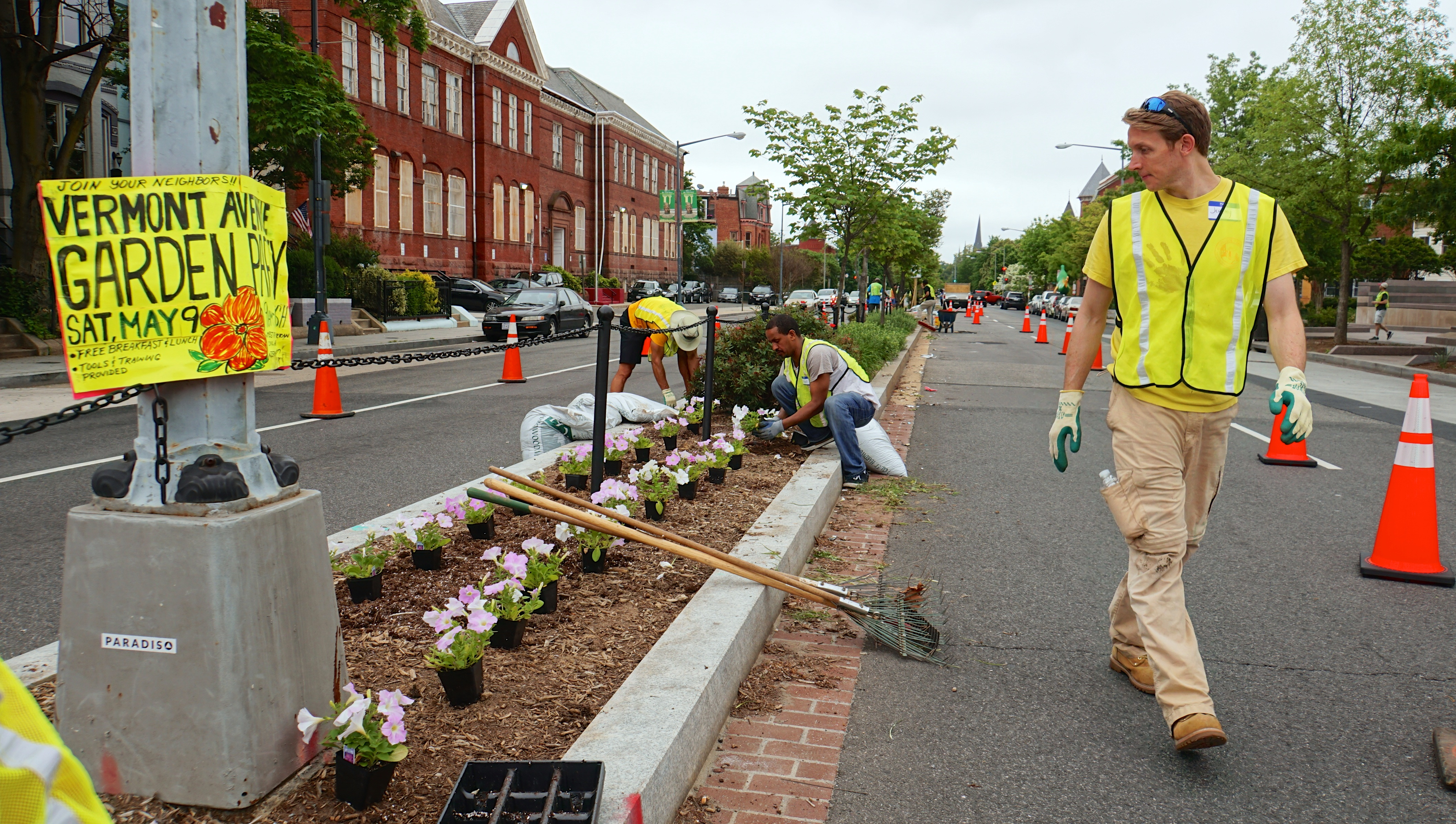 Vermont Ave NW Gardens Planting DC 55189
