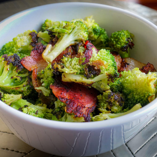 2019.07.07 Broccoli with Bacon, LCHF, Washington, DC USA 1830005